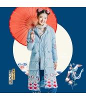 ガーベラレディース ダウンコート ロングコート 刺繍入り rp11403-1
