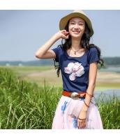 ガーベラレディース Tシャツ カットソー 半袖 刺繍入り rp11432-1