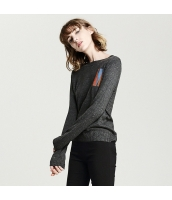 ガーベラレディース ニット・セーター セーター 長袖 刺繍入り rp11582-1