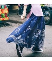 ガーベラレディース フレアスカート ロング・マキシスカート 花柄 刺繍入り 春物 rp11867-1