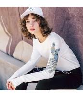 ガーベラレディース Tシャツ カットソー 長袖 着やせ 刺繍入り 春物 rp11878-1