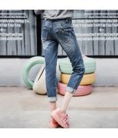 ガーベラレディース ジーンズ デニムパンツ サブリナパンツ ロールアップ 刺繍入り 春物 rp11922-1