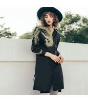 ガーベラレディース シャツ 長袖 ハイロー裾 刺繍入り 春物 rp11957-1
