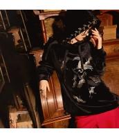 ガーベラレディース プルオーバーパーカー 長袖 ベロア 刺繍入り 春物 rp11975-1