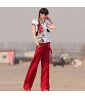 ガーベラレディース ワイドパンツ 着やせ 麻生地 夏物 rp11999-1