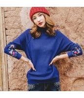 ガーベラレディース ニット・セーター セーター 長袖 ゆったり コーディアイテム 刺繍入り 冬物 rp12019-1