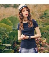 ガーベラレディース Tシャツ カットソー 半袖 カットアウトショルダー パール装飾 夏物 rp12054-1