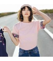 ガーベラレディース Tシャツ カットソー 半袖 純綿100%コットン 刺繍入り 夏物 rp12061-1
