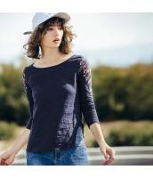 ガーベラレディース Tシャツ カットソー 長袖 非対称スリット入り 刺繍入り 春物 rp12063-1