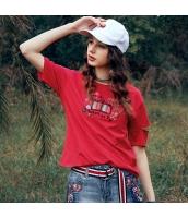 ガーベラレディース Tシャツ カットソー 半袖 ゆったり 刺繍入り 春物 rp12067-1