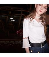 ガーベラレディース Tシャツ カットソー 七分袖 ワイド袖 刺繍入り 春物 rp12072-1