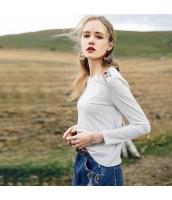 ガーベラレディース Tシャツ カットソー 長袖 コーディアイテム 刺繍入り 春物 rp12076-1