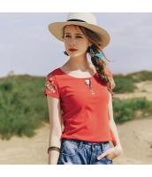 ガーベラレディース Tシャツ カットソー 半袖 刺繍入り 夏物 rp12077-1
