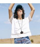 ガーベラレディース Tシャツ カットソー 半袖 シフォン切替 ゆったり 夏物 rp12081-1