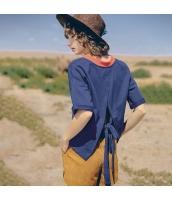 ガーベラレディース Tシャツ カットソー 半袖 ゆったり 夏物 rp12095-1
