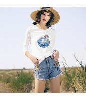 ガーベラレディース ジーンズ・デニムパンツ ショートパンツ・ホットパンツ 刺繍入り 夏物 rp12097-1