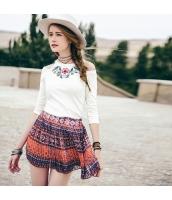 ガーベラレディース プリーツスカート ミニスカート パンツ型裏地 春物 rp12109-1