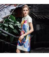 ガーベラレディース ミニワンピース 半袖 タイトワンピース チャイナードレス風 春物 rp12222-1