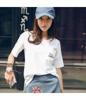 ガーベラレディース Tシャツ カットソー 半袖 ゆったり 刺繍入り 夏物 rp12263-1