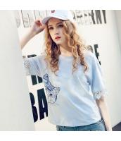 ガーベラレディース Tシャツ カットソー 七分袖 猫柄 刺繍入り 夏物 rp12267-1