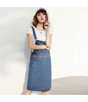 ガーベラレディース ジャンパースカート デニムワンピ 刺繍入り 夏物 rp12299-1