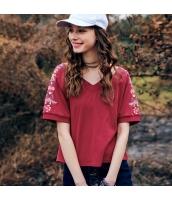 【Tシャツ】カットソー【半袖】刺繍入り【夏物】 rp12328-2
