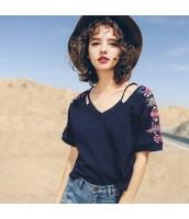 【Tシャツ】カットソー【半袖】刺繍入り【夏物】 rp12328-3