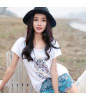 【Tシャツ】カットソー【半袖】刺繍入り【夏物】 rp12329-1