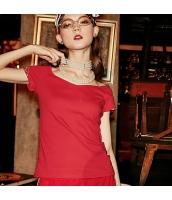 【Tシャツ】カットソー【半袖】Vネック【刺繍入り】夏物 rp12338-1