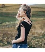 【Tシャツ】カットソー【半袖】Vネック【刺繍入り】夏物 rp12338-3
