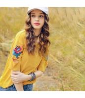 【Tシャツ】カットソー【半袖】カットアウト袖【刺繍入り】夏物 rp12339-2