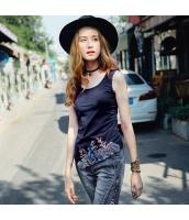 【タンクトップ】イレギュラー裾【刺繍入り】夏物 rp12341-1