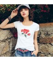 【Tシャツ】カットソー【半袖】純綿100%コットン【刺繍入り】夏物 rp12351-1