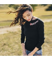 【Tシャツ】カットソー【長袖】刺繍入り【夏物】 rp12365-1