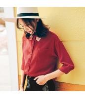 【シャツ】七分袖【シフォン】刺繍入り【夏物】 rp12379-1