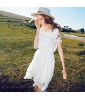 【膝丈ワンピース】半袖【フレアワンピース】シフォン【刺繍入り】夏物 rp12436-1