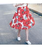 【ハイウエストスカート】フレアスカート【膝下スカート】花柄【夏物】 rp12441-1