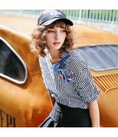 【シャツ】七分袖【刺繍入り】夏物 rp12449-1