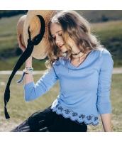 【ニット・セーター】セーター【長袖】Vネック【春物】 rp12470-1
