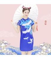 【チャイナドレス】ミニドレス【民族風】夏物 rp12514-1