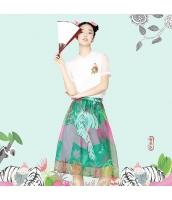 【フレアスカート】膝下スカート【民族風】夏物 rp12520-1