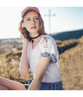 【Tシャツ】カットソー【半袖】純綿100%コットン【刺繍入り】夏物 rp12758-1