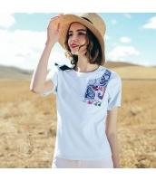【Tシャツ】カットソー【半袖】刺繍入り【夏物】 rp12759-1