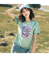 【Tシャツ】カットソー【半袖】猫柄【夏物】 rp12761-1