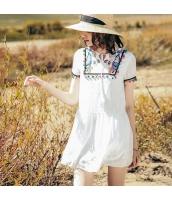 【ミニワンピース】半袖【Aラインワンピース】シフォン【刺繍入り】夏物 rp12777-1