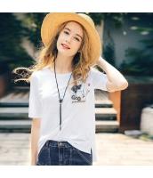 【Tシャツ】カットソー【半袖】刺繍入り【夏物】 rp12800-1