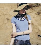 【Tシャツ】カットソー【半袖】ハイネック【夏物】 rp12802-1