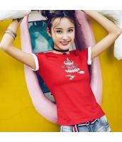 【Tシャツ】カットソー【半袖】刺繍入り【夏物】 rp12807-1