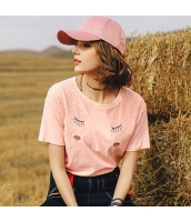 【Tシャツ】カットソー【半袖】レース【刺繍入り】夏物 rp12820-1