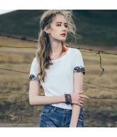 【Tシャツ】カットソー【半袖】純綿100%コットン【刺繍入り】夏物 rp12821-1